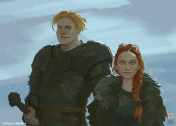 Brienne and Sansa #2 by XiaTaptara