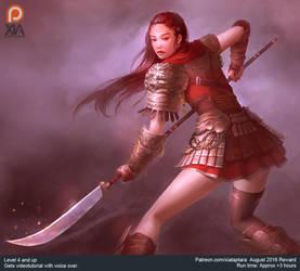Lion warrior character concept by XiaTaptara