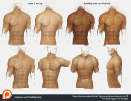 Painting male torso by XiaTaptara