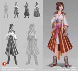 Character concept process by XiaTaptara