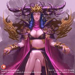 Queen of thrones by XiaTaptara