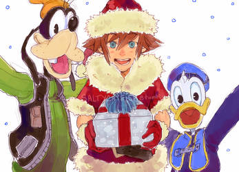 KH: Holiday Trinity by saltycatfish
