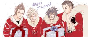 FFXV: Happy Holidays by saltycatfish