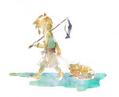 LoZ: Gone Fishing by saltycatfish