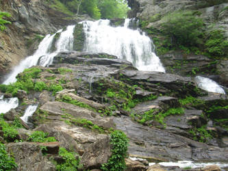 Bottom of Cullasaja Falls Big by ProdigalComingHome