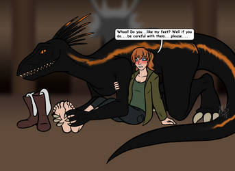 -COM- Claire vs the Indoraptor by AraghenXD