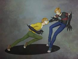 Commission: Kyo vs Victor by xXrOcKeRwAnNaBeXx