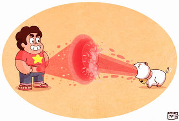 Steven .vs. Puppycat by tarunbanned