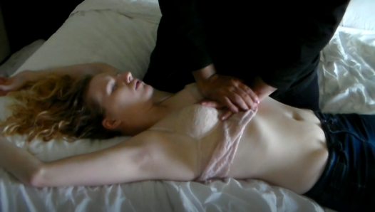 Young Blonde Woman Needs CPR, Chest Compressions by sweetdreamz12