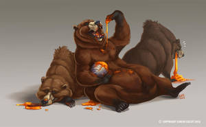 Grizzly Bear study 002 by Kaek
