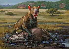 Thylacosmilus Atrox by Kaek