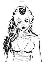 Scarlet Witch - Inks by Jon-Moss