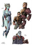 Aquaman - various characters redesigns 2 by EddyNat