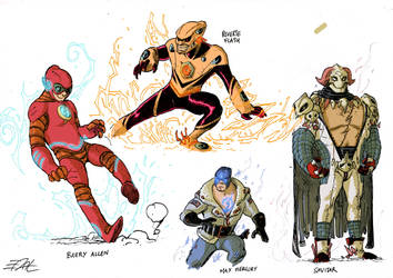 Flash Characters Redesigns by EddyNat