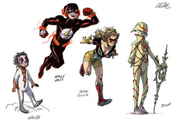 Flash Characters Redesigns 2 by EddyNat
