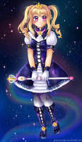 Galaxy Magical Girl by hello-mango