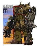 Zaku Gouf Custom Zeon Afrika Korps by archaznable30