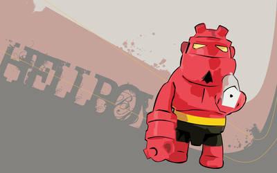 HellBoy vector wallpaper by xALIASx
