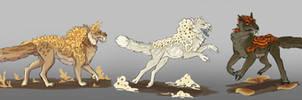 Headworlds: Sporleon Types by TheVerdantHare