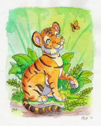 Tiny Tiger by TheVerdantHare