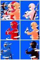 Kakuranger by chico-robot