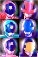 Lupinranger vs. Patoranger by chico-robot