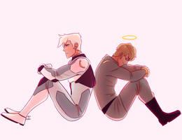 Shiro and Adam by chico-robot