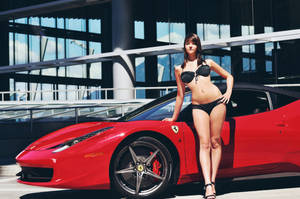 Ferrari 458 Italia and Model by dart47