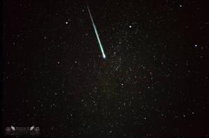 Perseid Meteor and Milky Way by dart47