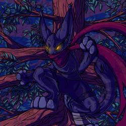 Kitty in a tree by ewedy2