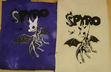 Skeletal Spyro screen prints by ewedy2