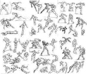 action poses by sleepingdogs1