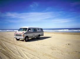 Van at Pismo Beach by guidoanselmi