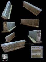 Concrete barrier vol2 textured by Redecorator