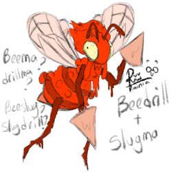 (pokefuse) Beedrill+Slugma by RainiatheGegurl