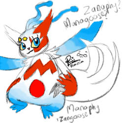 (pokefuse) Manaphy+Zangoose by RainiatheGegurl
