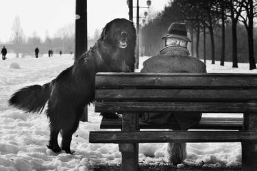 One man and his dog by slatkatajna