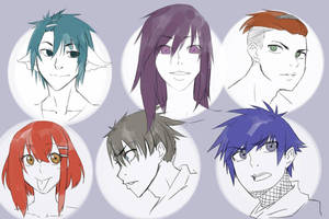 OC Anime Sketches by SultanSketches
