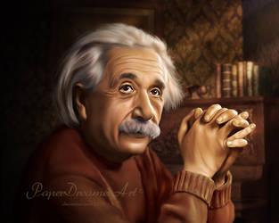 Albert Einstein 2 by PaperDreamerArt
