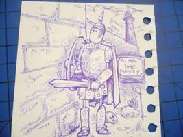 Alan the Nasty Cartoon Sketch by m99art