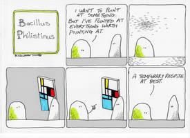 Bacillus Philistinus Cartoon by m99art