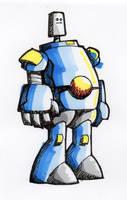 Friendly Robot Cartoon Sketch by m99art