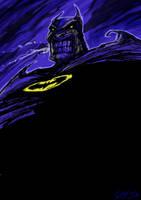 Batman Grimace by m99art