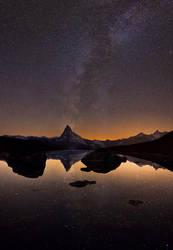 Midnight's Matterhorn by Arafinwearcamenel
