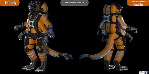 Bilockus Zef Space Engineer Space Suit Reference by Zefnoly