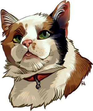Pet Portrait for Crywolf130, comms open! by feltstickers
