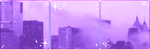 Sad City // Purple city divider by StarryWave