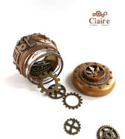 Steampunk Mason Jar by ClaireSteampunk