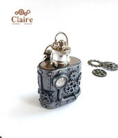 Steampunk Flask by ClaireSteampunk