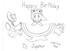 Happy Birthday Jupiter-Lineart by Rubber-Band-Of-Doom
